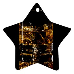 Drink Good Whiskey Star Ornament (Two Sides)