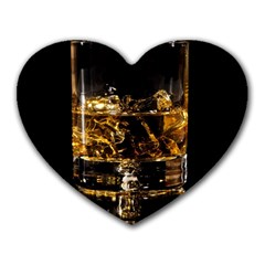 Drink Good Whiskey Heart Mousepads