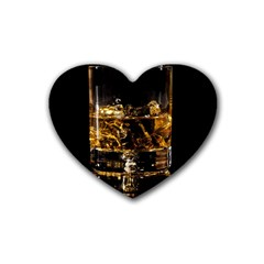 Drink Good Whiskey Rubber Coaster (Heart)