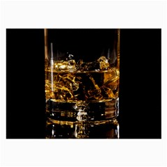 Drink Good Whiskey Large Glasses Cloth
