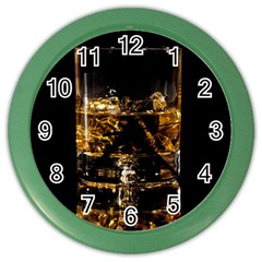 Drink Good Whiskey Color Wall Clocks