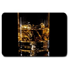 Drink Good Whiskey Large Doormat