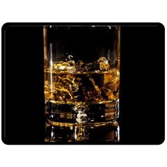Drink Good Whiskey Fleece Blanket (Large)