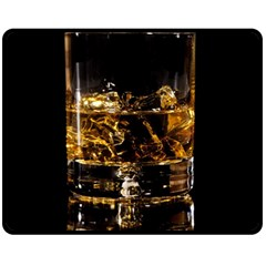 Drink Good Whiskey Fleece Blanket (Medium)