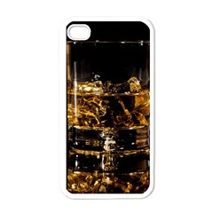 Drink Good Whiskey Apple iPhone 4 Case (White)