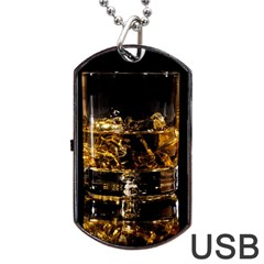 Drink Good Whiskey Dog Tag USB Flash (Two Sides)