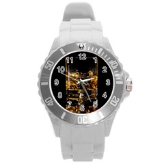 Drink Good Whiskey Round Plastic Sport Watch (L)