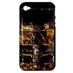 Drink Good Whiskey Apple iPhone 4/4S Hardshell Case (PC+Silicone)