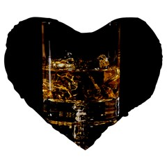 Drink Good Whiskey Large 19  Premium Heart Shape Cushions