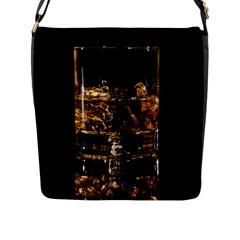 Drink Good Whiskey Flap Messenger Bag (L)