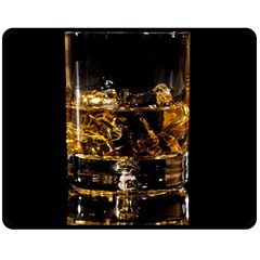 Drink Good Whiskey Double Sided Fleece Blanket (Medium)
