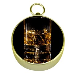 Drink Good Whiskey Gold Compasses
