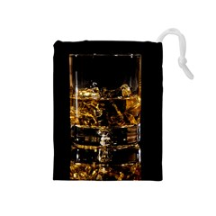 Drink Good Whiskey Drawstring Pouches (Medium)