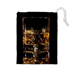 Drink Good Whiskey Drawstring Pouches (Large)