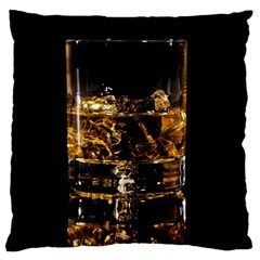 Drink Good Whiskey Large Flano Cushion Case (One Side)