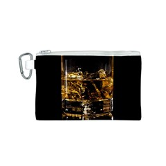 Drink Good Whiskey Canvas Cosmetic Bag (S)