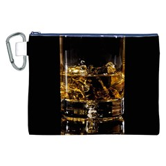 Drink Good Whiskey Canvas Cosmetic Bag (XXL)
