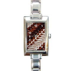Traditional Batik Sarong Rectangle Italian Charm Watch