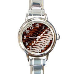 Traditional Batik Sarong Round Italian Charm Watch