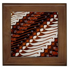 Traditional Batik Sarong Framed Tiles