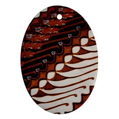 Traditional Batik Sarong Ornament (Oval)