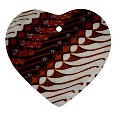 Traditional Batik Sarong Ornament (Heart)