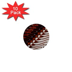 Traditional Batik Sarong 1  Mini Buttons (10 pack)