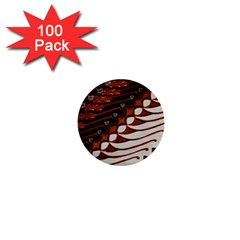 Traditional Batik Sarong 1  Mini Buttons (100 pack)
