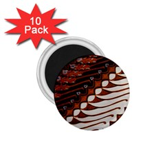 Traditional Batik Sarong 1.75  Magnets (10 pack)