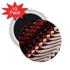 Traditional Batik Sarong 2.25  Magnets (10 pack)