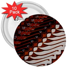 Traditional Batik Sarong 3  Buttons (10 pack)