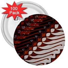 Traditional Batik Sarong 3  Buttons (100 pack)