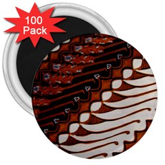 Traditional Batik Sarong 3  Magnets (100 pack)