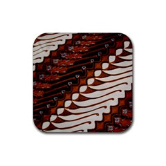 Traditional Batik Sarong Rubber Coaster (Square)