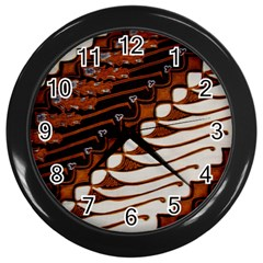 Traditional Batik Sarong Wall Clocks (Black)