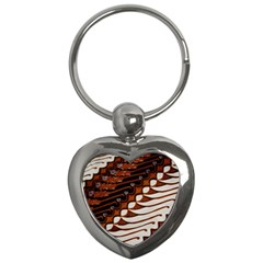 Traditional Batik Sarong Key Chains (Heart)