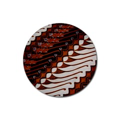 Traditional Batik Sarong Rubber Coaster (Round)