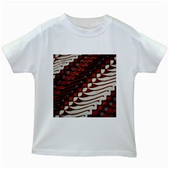Traditional Batik Sarong Kids White T-Shirts