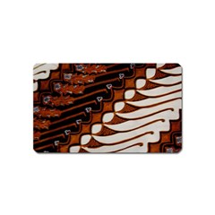 Traditional Batik Sarong Magnet (Name Card)