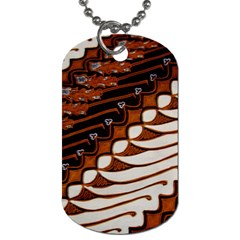Traditional Batik Sarong Dog Tag (One Side)