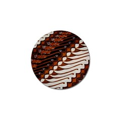 Traditional Batik Sarong Golf Ball Marker (4 pack)