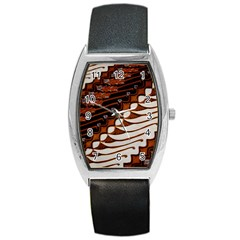Traditional Batik Sarong Barrel Style Metal Watch