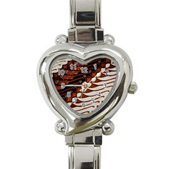 Traditional Batik Sarong Heart Italian Charm Watch