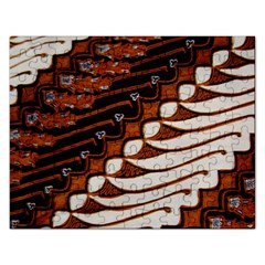Traditional Batik Sarong Rectangular Jigsaw Puzzl
