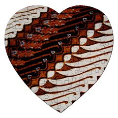 Traditional Batik Sarong Jigsaw Puzzle (Heart)