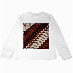 Traditional Batik Sarong Kids Long Sleeve T-Shirts