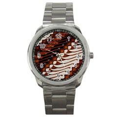 Traditional Batik Sarong Sport Metal Watch