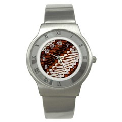 Traditional Batik Sarong Stainless Steel Watch