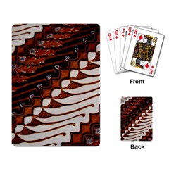 Traditional Batik Sarong Playing Card
