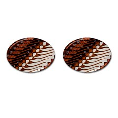 Traditional Batik Sarong Cufflinks (Oval)